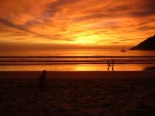 Nai Harn beach sunset