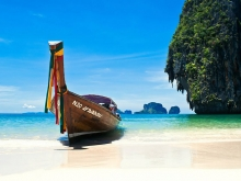 Longtail boat on Phuket island